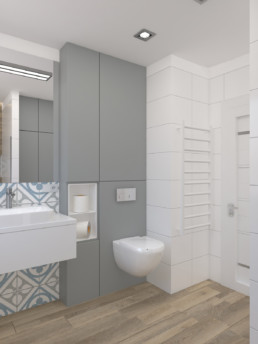 Projektowanie wnętrz - projekt łazienki AGGA