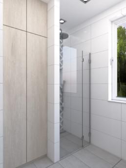 Projektowanie wnętrz - projekt łazienki